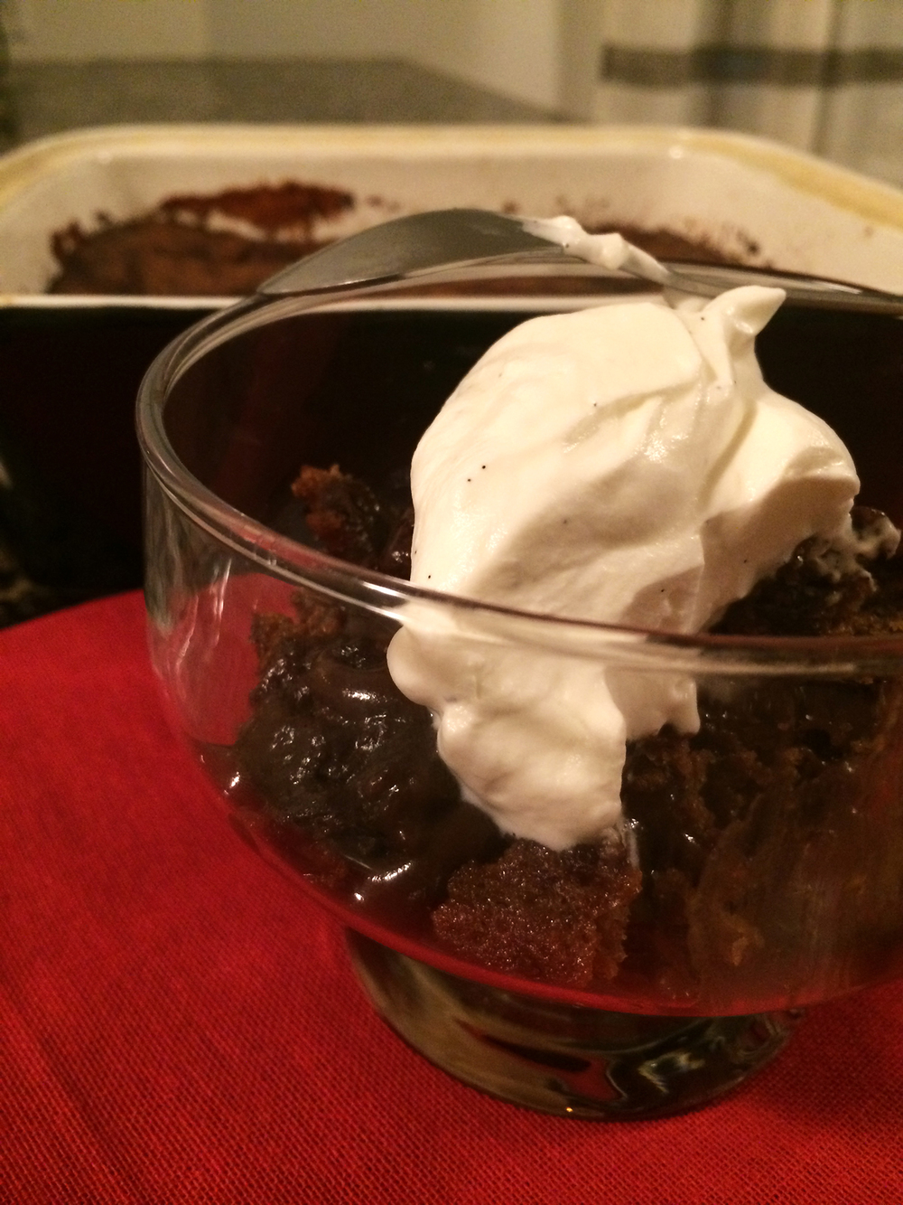 Pudding w. Whipped Cream