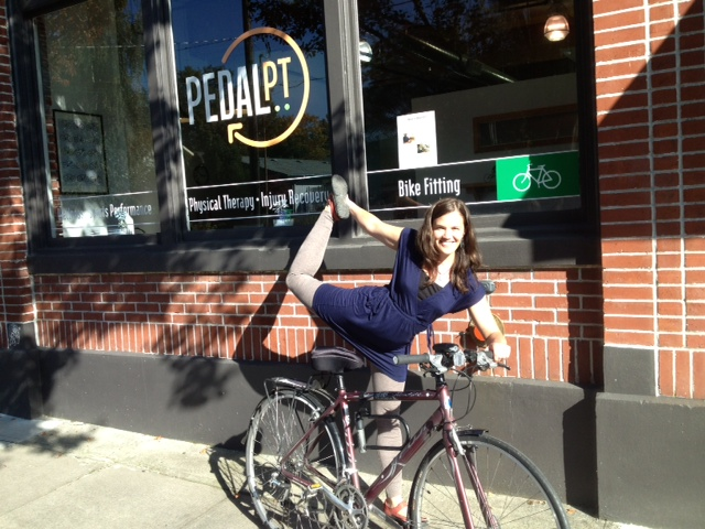 Bike yoga at Pedal PT