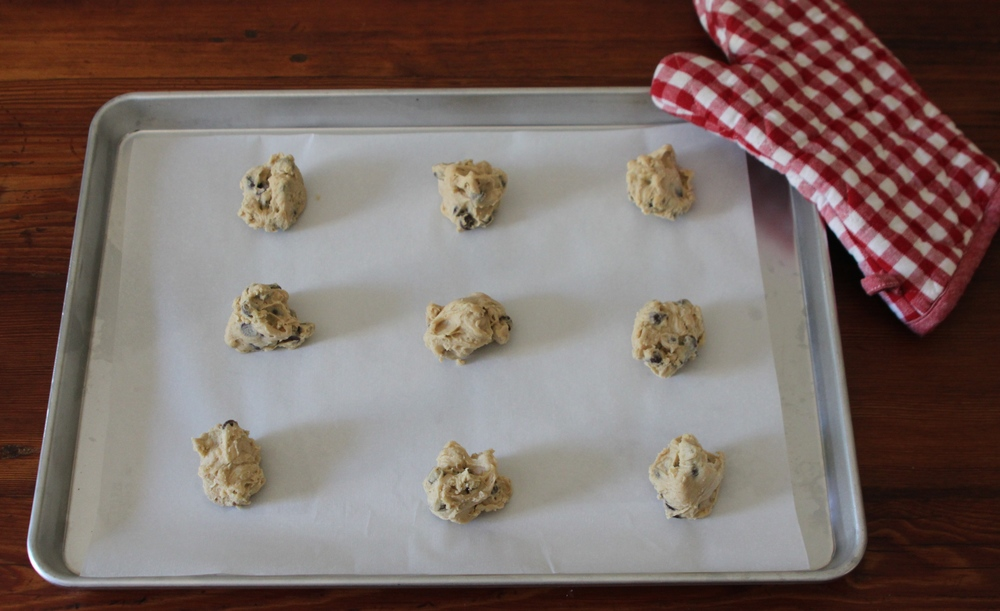 Freezer to Oven:  Homemade Ready-to-Bake Chocolate Chip Cookies (Gluten and Dairy Free)