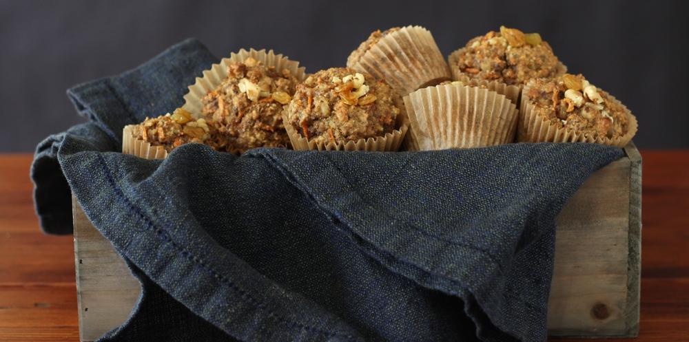 Carrot Muffins, Gluten-Free & Dairy-Free & Paleo