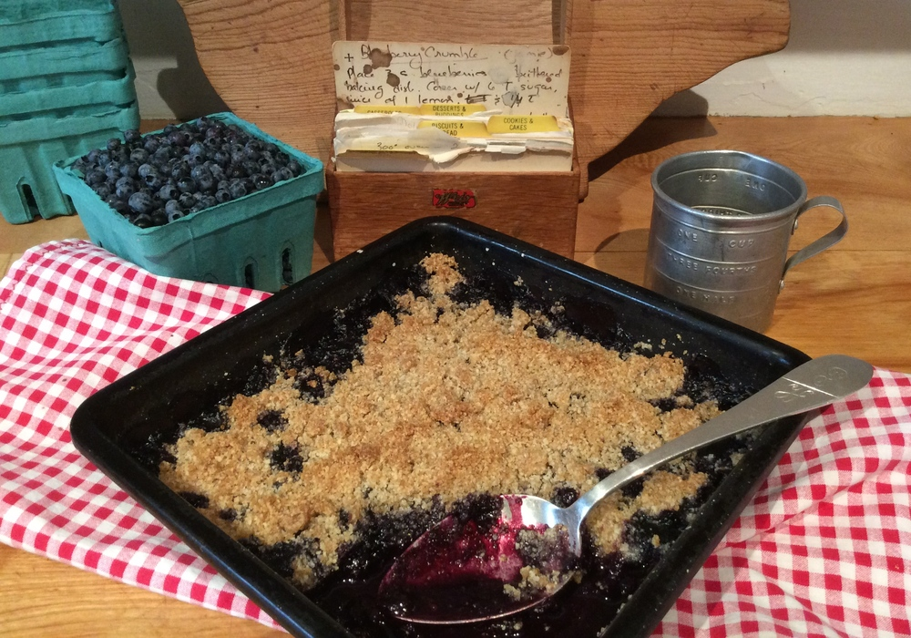 Blueberry Crumble, Gluten-Free & Dairy-Free