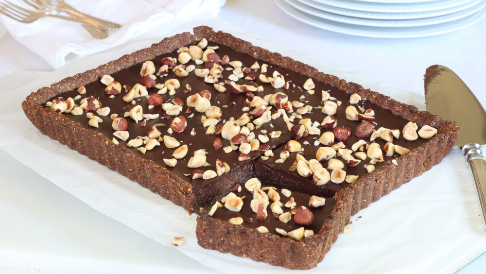 Gluten-Free, Dairy-Free Chocolate Hazelnut Tart