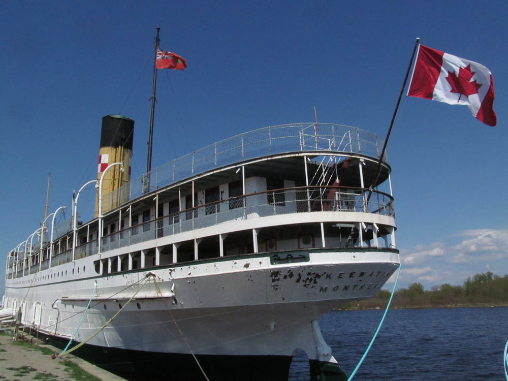 The SS Keewatin docked in Port McNicoll, Ont