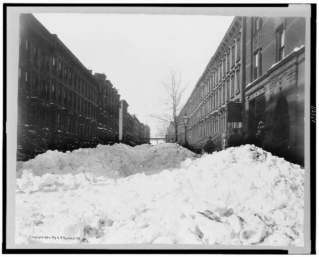 The Great Blizzard of 1899, Harlem - Library of Congress