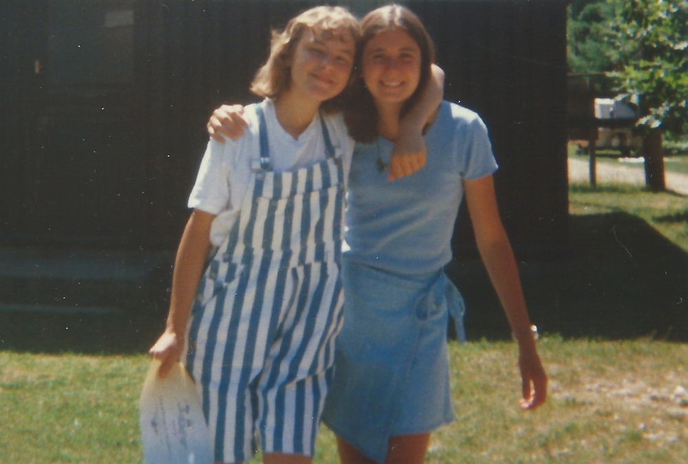 That's my summer camp buddy, Lori, and me. I'm guessing about 1998.
