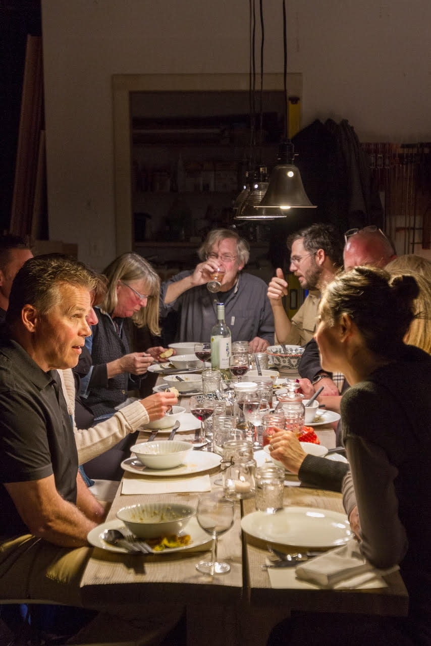 Diners at the Steel House Crowdfund Supper, November 2015. Photo by Kate Sfeir.