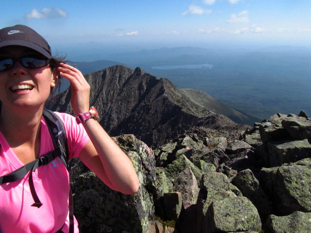 Meghan on Katahdin, September 2015.