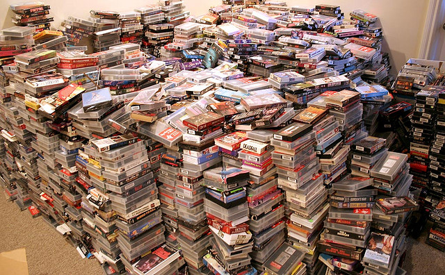 Would you put Grandma's stories in this pile? Photo by makelessnoise on flickr.