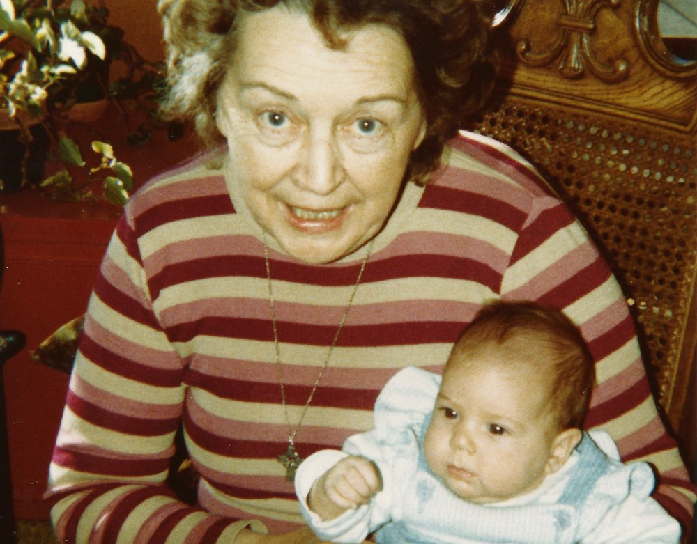 Grandma and me, 1981