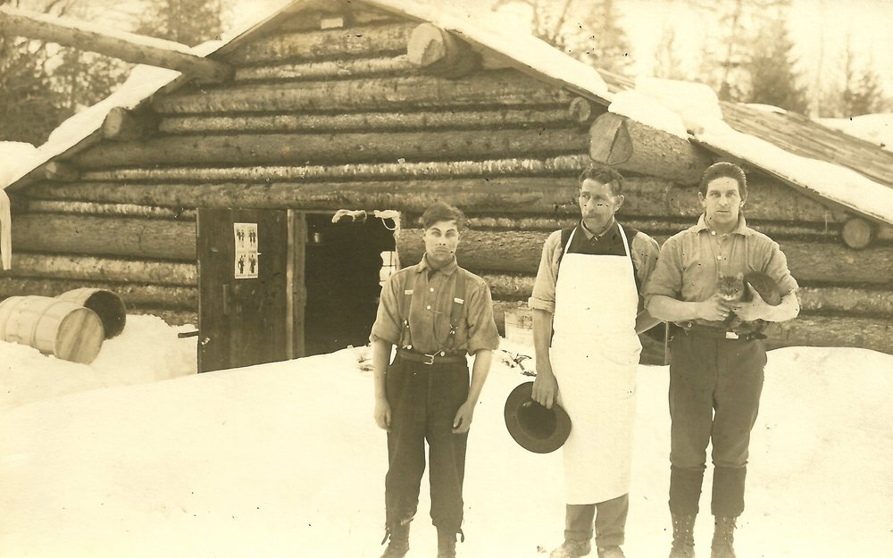 Logging camp in Northern Maine. Courtesy of Paul Marshall.