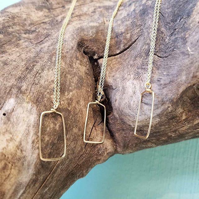 Classic shape necklaces by @tumbleweedbeadco  #jacksonandpolk #tumbleweedbeadco #artisan #jewelry #handcrafted #handmadejewelry #recycled #recycledmetal #shoplocal