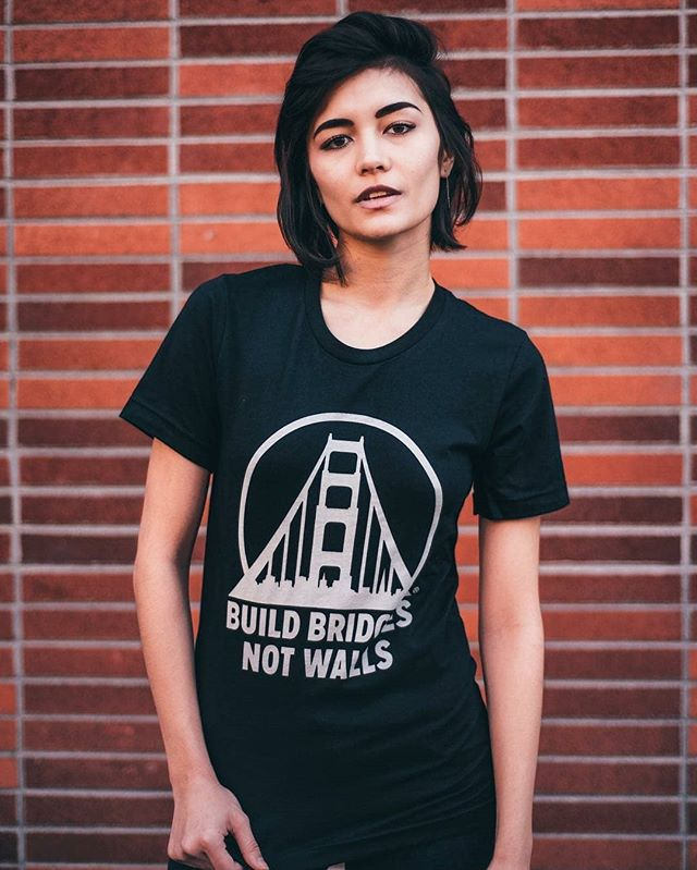 Build Bridges Not Walls. It's back in stock! 📸: @sanfranpsycho  #jacksonandpolk #buildbridgesnotwalls #sanfrancisco #sanfranpsycho