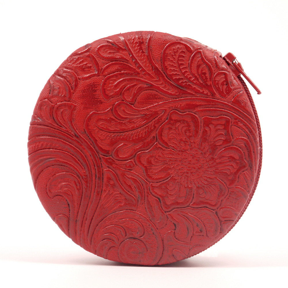 Beautiful Embossed Floral Pill Case
