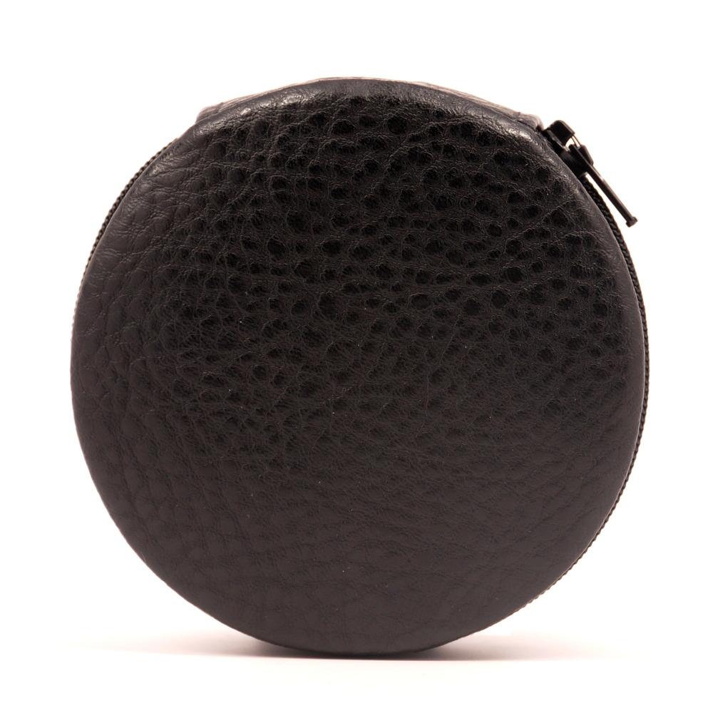 Black Pebble Zip-A-Round Pill Case