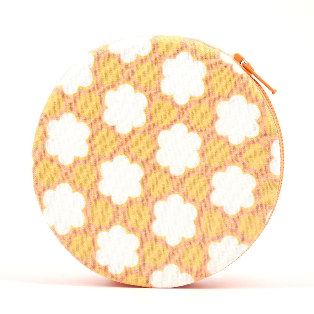 Orange Flowers Designer Pill Case