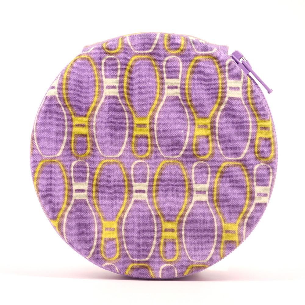 Purple Bowling Pins Modern Pill Case