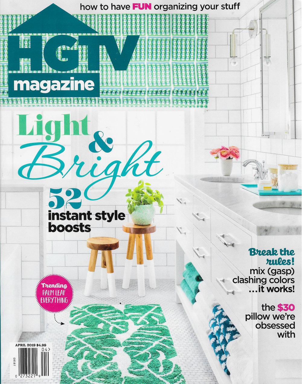 COVER - HGTV Magazine - April 2019
