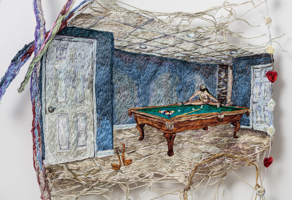 Waiting (detail), Sophia Narrett, 2015-2016, Embroidery Thread and Fabric, 26 x 48 inches .jpg