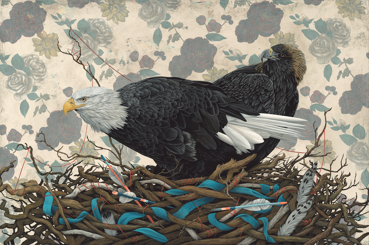 """Roost"" 2015.David Rice Paintings #artpeople"