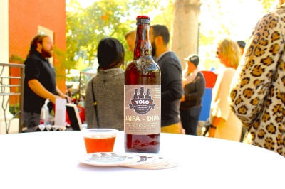 photo by anna wick of yolo brewing co. at the midtown farmers market