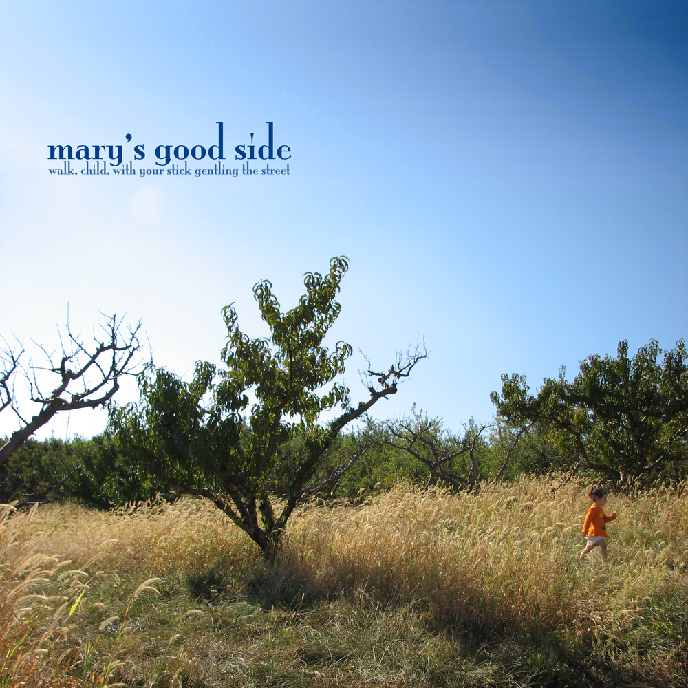 Album Cover - Mary's Good Side    Photoshop   I took this photograph, made some modifications in Photoshop, and laid out the text. For an album of improvised piano duets I made with my friend Alex Wharton.   More information, images, and audio here .