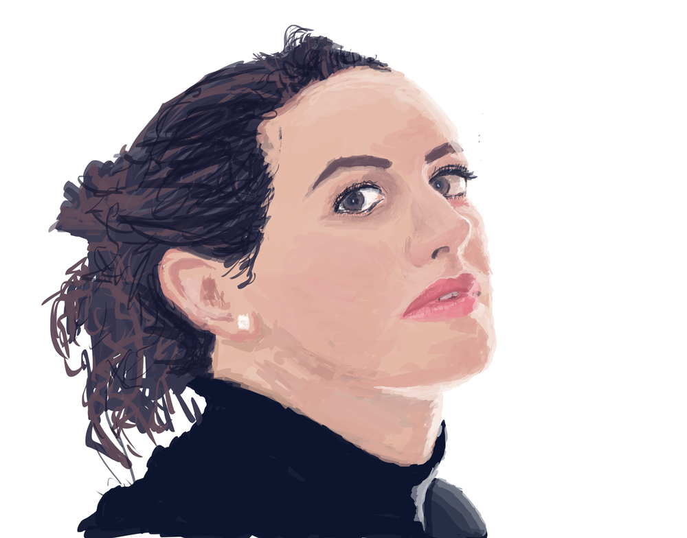 Digital Portrait Study (Work In Progress)    Wacom + Photoshop   One of my early forays into portrait painting. Study of a photograph by Michael Edwards.