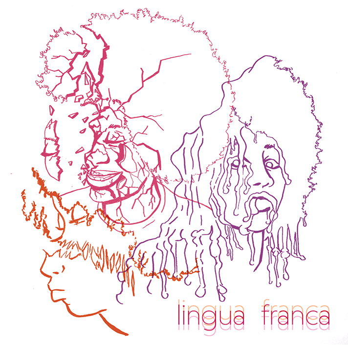 Lingua Franca EP  Design    Photoshop.   Illustrations by Erin Stacer. I laid out multiple variations of the design, and prepared the art for printing.  Download the album on  Bandcamp .