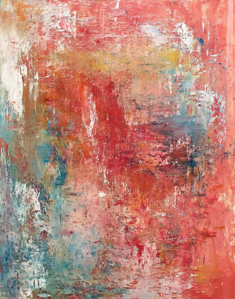 Jacqueline Ferrante, Haze II, 2016, Acrylic on Dura-Lar, 14 x 11 inches