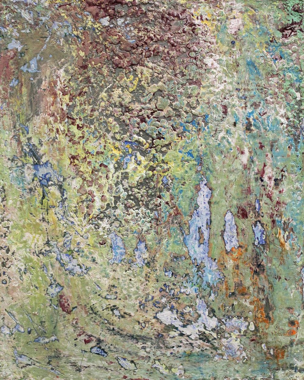 Jacqueline Ferrante, Scrape I, 2018, Acrylic on board, 10 x 8 inches