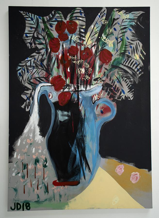 Jenn Dierdorf, Night Light, Acrylic on Canvas, 60x36 inches, 2018