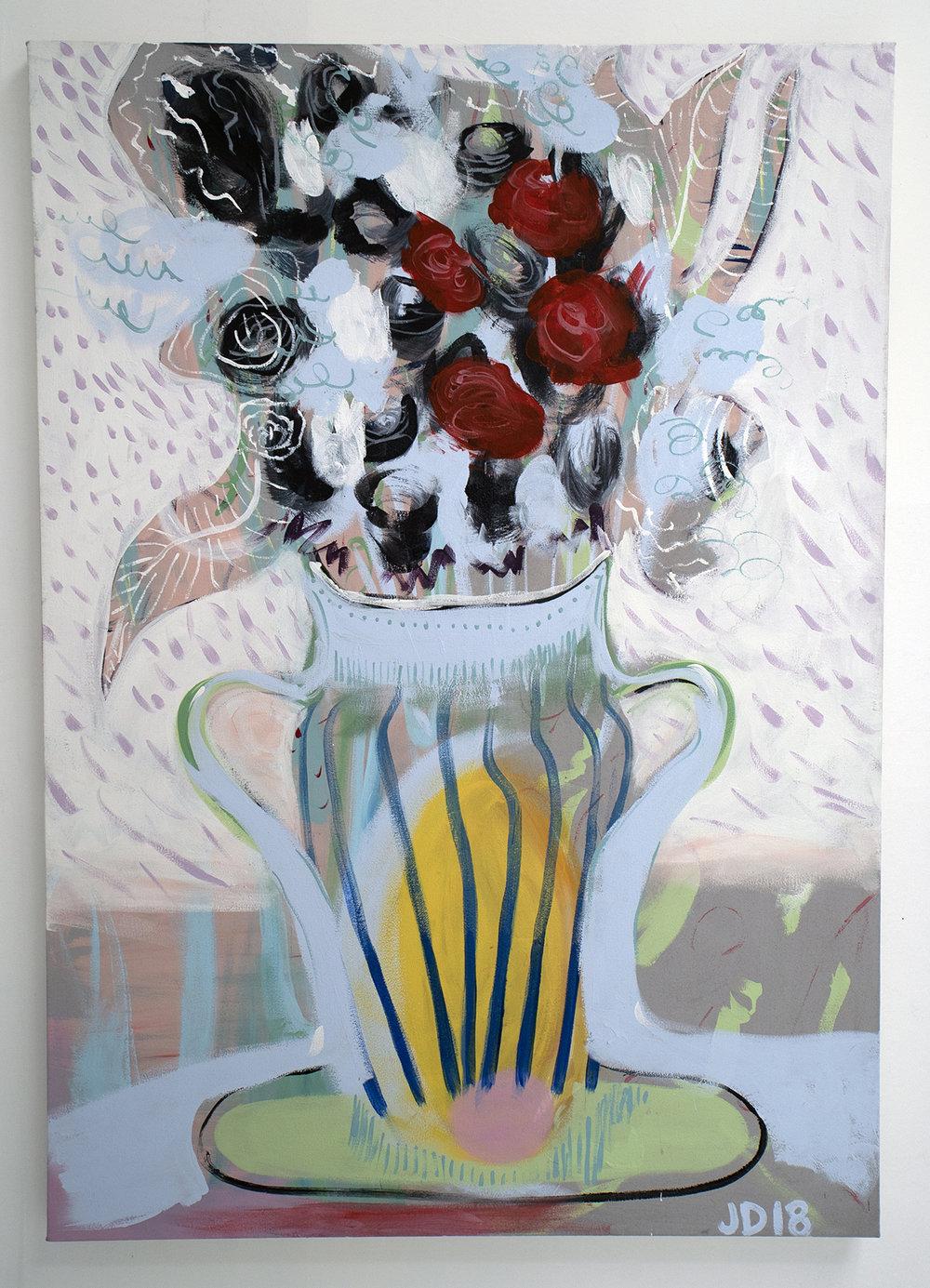 Jenn Dierdorf, Day Light, Acrylic on Canvas, 60x36 inches, 2018