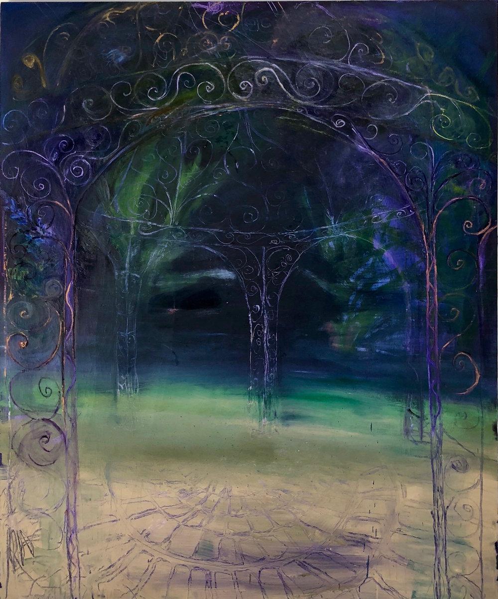 "Lizbeth Mitty, Honeymoon, 72""x 60"", Oil on Canvas"