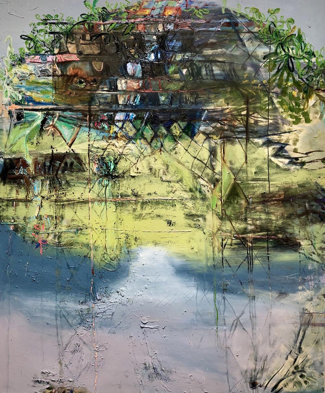 "Lizbeth Mitty, Monastery, 72"" x 60"", Oil on canvas"