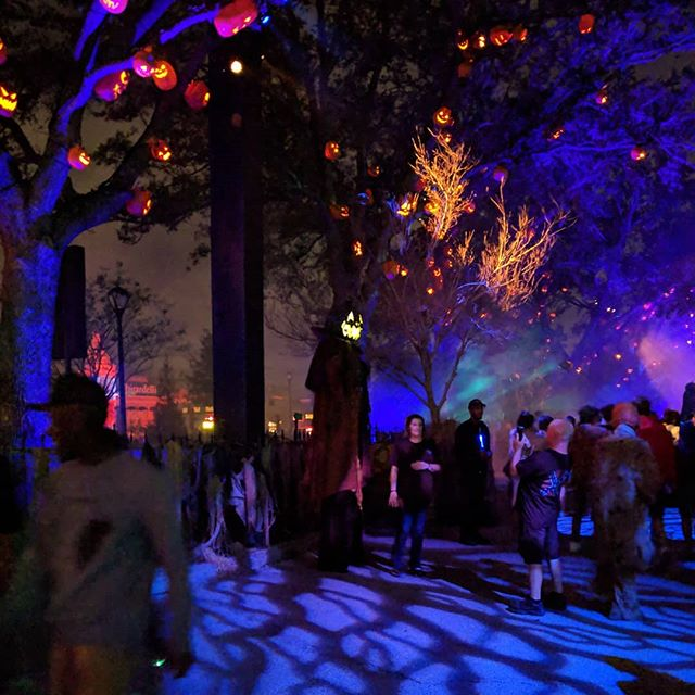 From #halloweenhorrornights This was my favorite #scarezone at #halloweenhorrornights2018 The ambiance was amazing