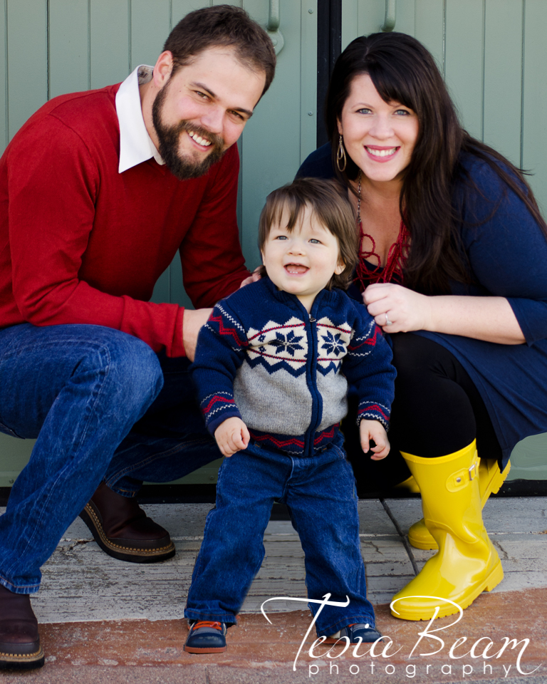 Family portrait with fab yellow boots! (c)Tesiabeamphotography.com