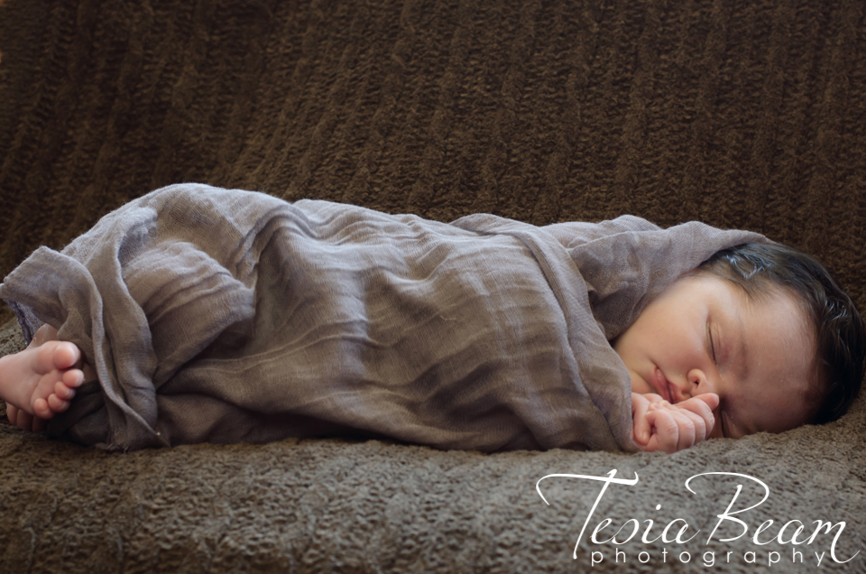 A bundled newborn (c)Tesiabeamphotography.com