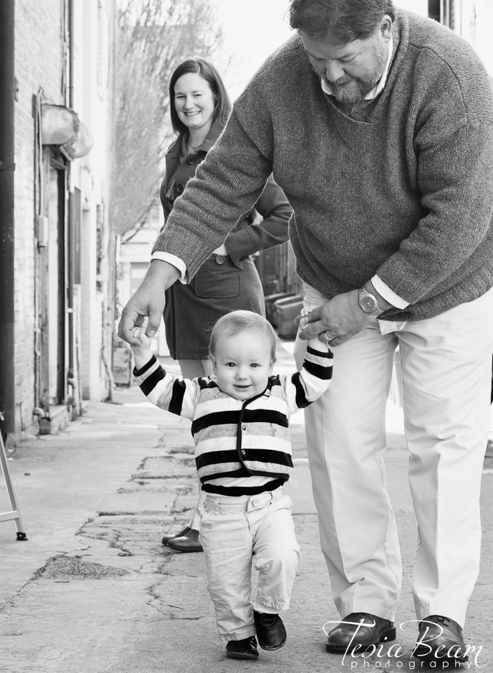 Learning to walk while mom looks on (c)Tesiabeamphotography.com