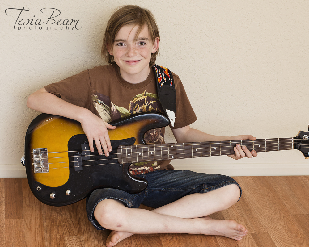 Cute boy and his guitar (c)Tesiabeamphotography.com