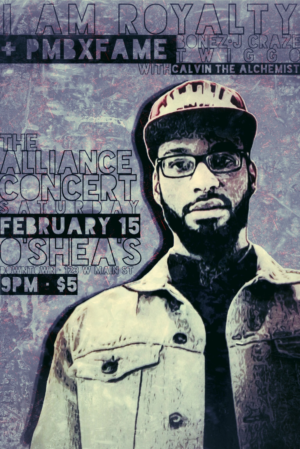 Come out and show your support at Bonez' next live performance: The Alliance Concert at O'Shea's Downtown in Louisville. Special performances will include the PMBxFAME family (Bonez, Twiggo, J Craze and Calvin the Alchemist). Show starts at 9:00 PM with a $5 cover at the door. 123 W Main Street, third floor. See you there!