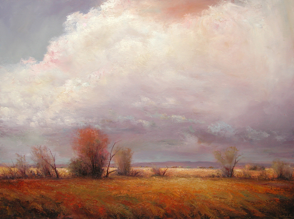 Storm Clouds Over Autumn Brush