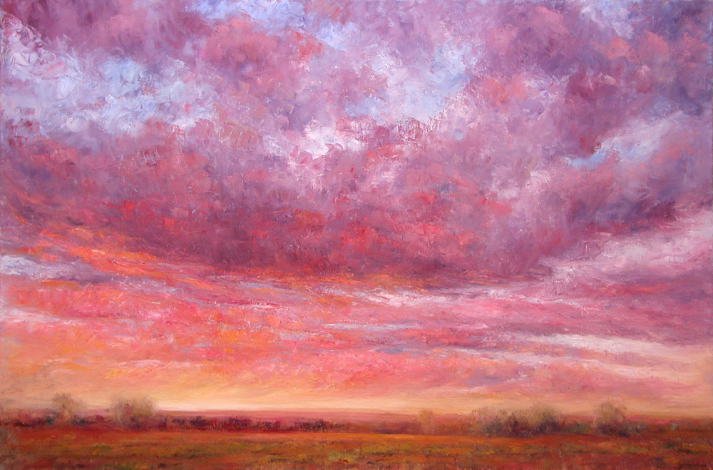 Sundown Over the Piñons