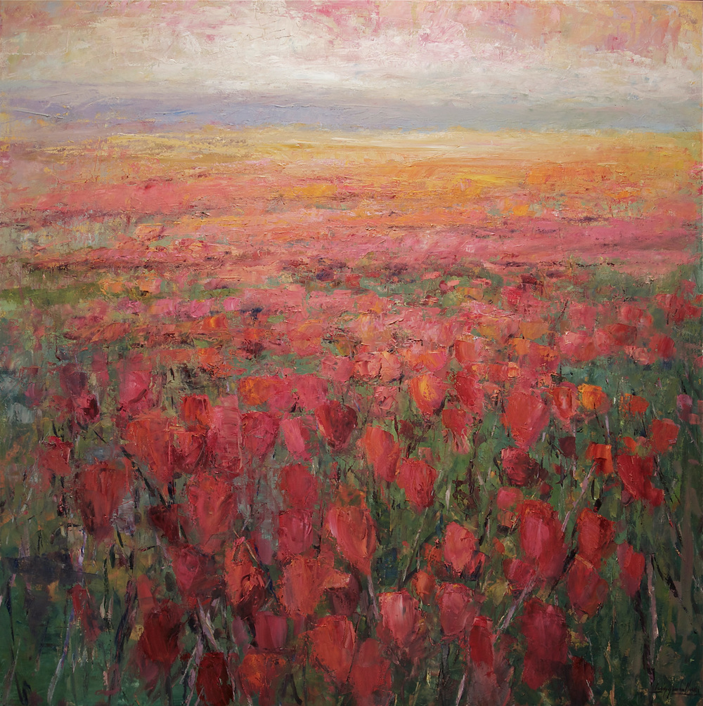 Red Tulip Rise to Ochre Field