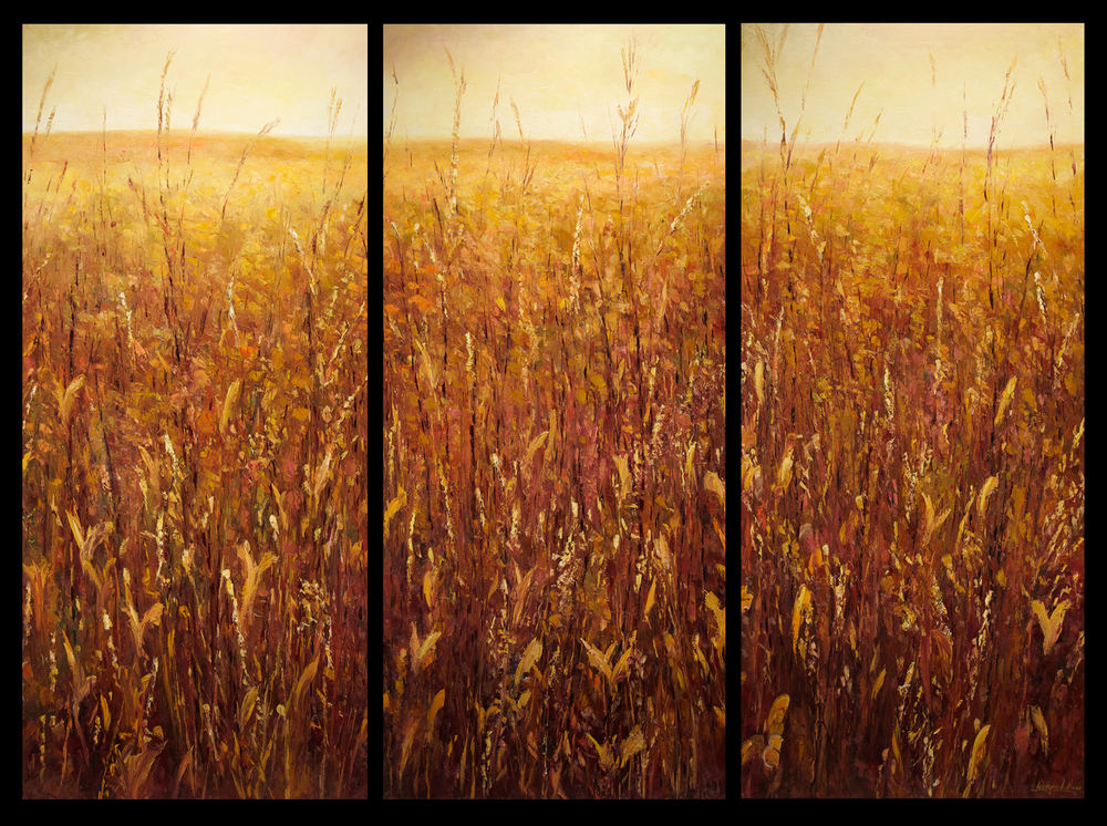 """Adagio for Grasslands"" 80"" x 108"" Oil on Canvas"