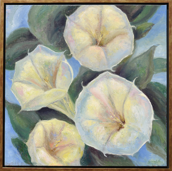 "New Mexico Lilies  oil on canvas  36""x36""  2016   Best Of Show"