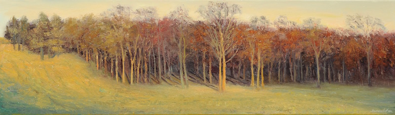 "Field's Edge  14""x 48""  oil on linen"