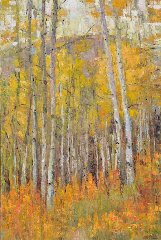 Walk Among the Aspens oil  30x20  $3300