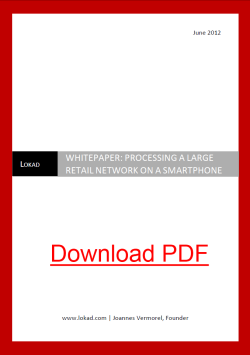 Processing a large retail network on a smartphone, by Lokad