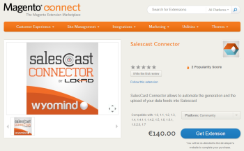 The Salescast Connector on Magento Connect