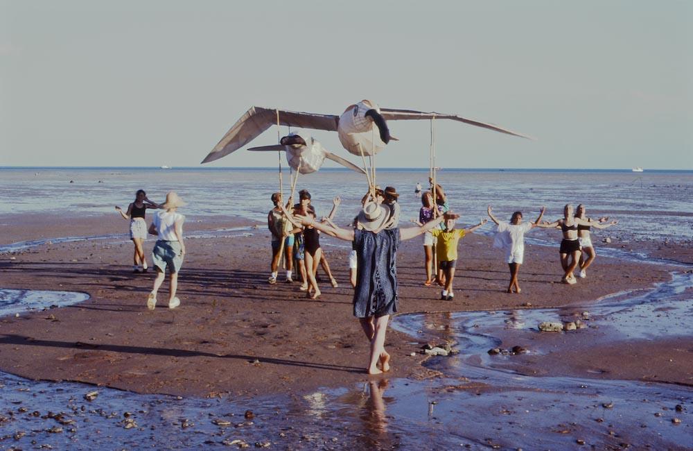Rehearsals on Broome Beach Western Australia