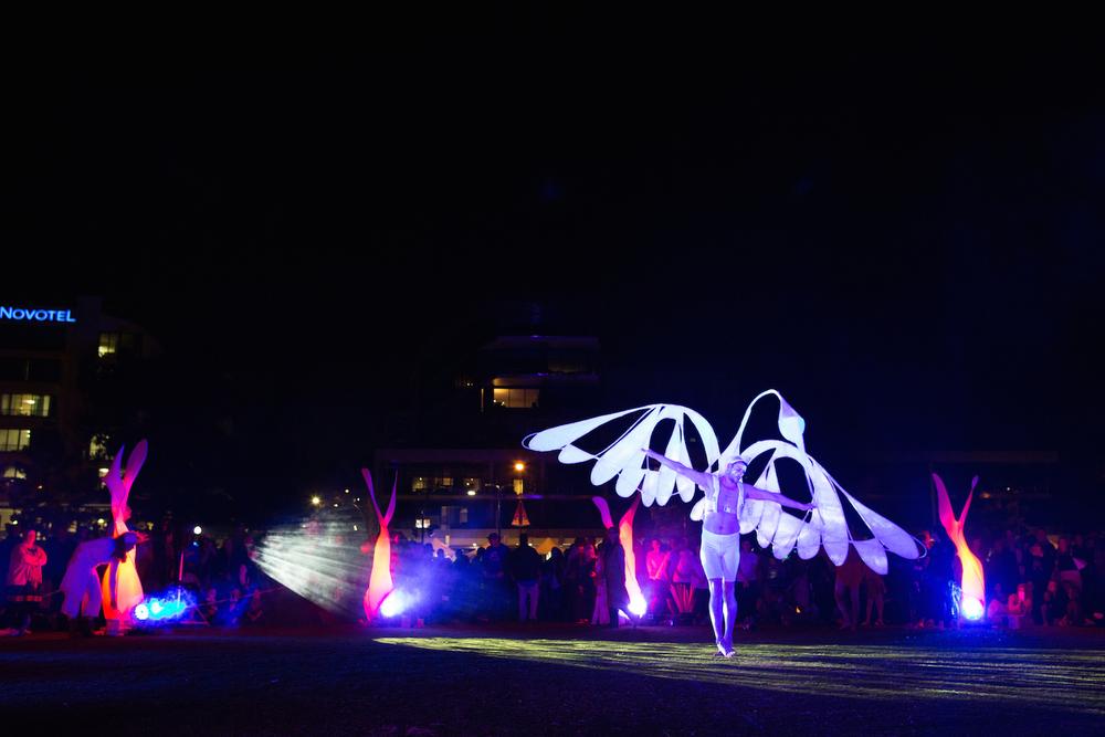 Spirit Bird Dancer: Adam DeBiase; Puppet Maker: Lizz Lethlean; Photographer: Ferne Millen